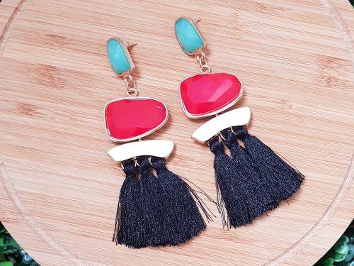 Bohemian Style Long Tassel Earrings with Elegant Beads