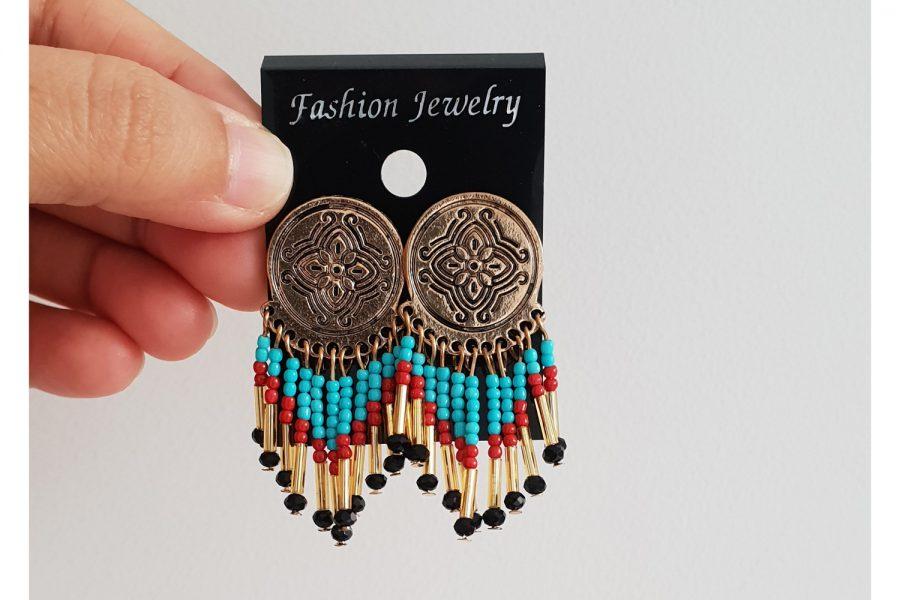Bohemian Style Tassel Earrings front