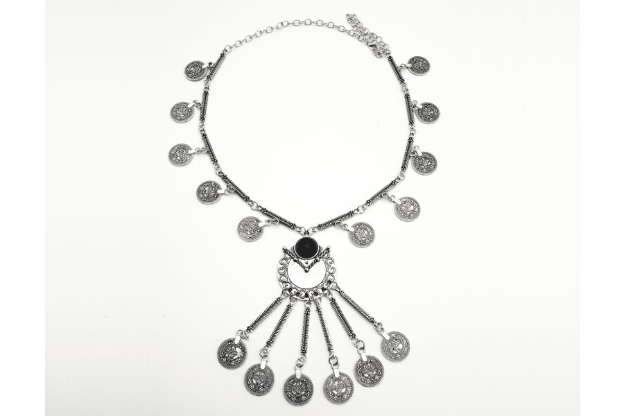 Bohemian - Tribal Style Coin Long Necklace