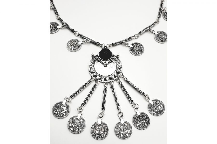 Bohemian - Tribal Style Coin Long Necklace zoom