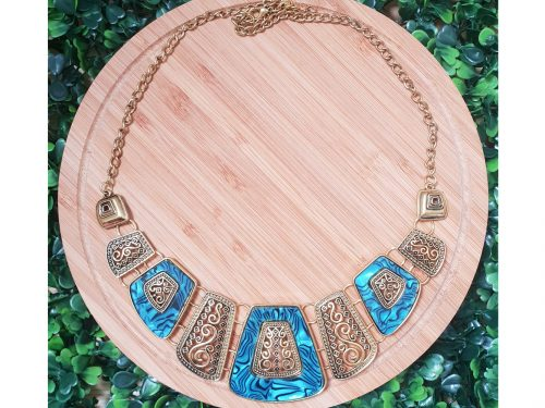 Egyptian Style Ethnic Design Bib Necklace