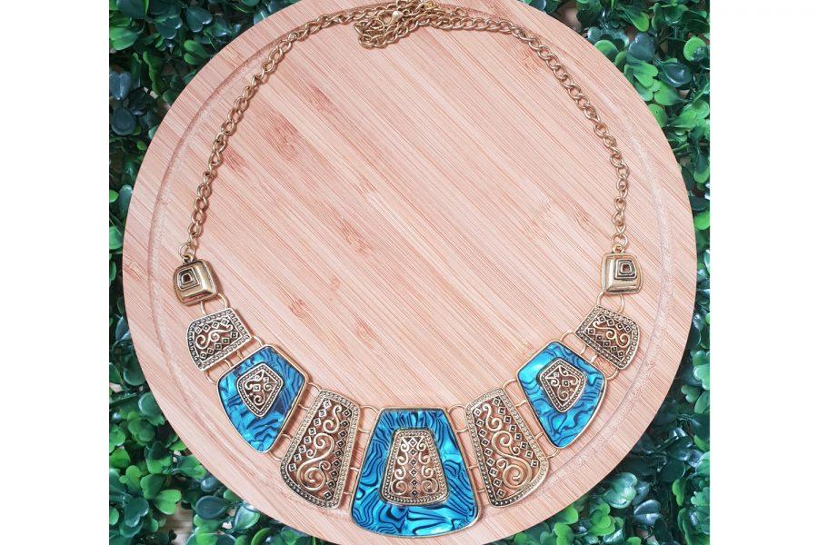 Egyptian Style Ethnic Design Bib Necklace