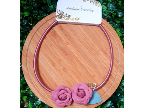 rose pendant choker necklace