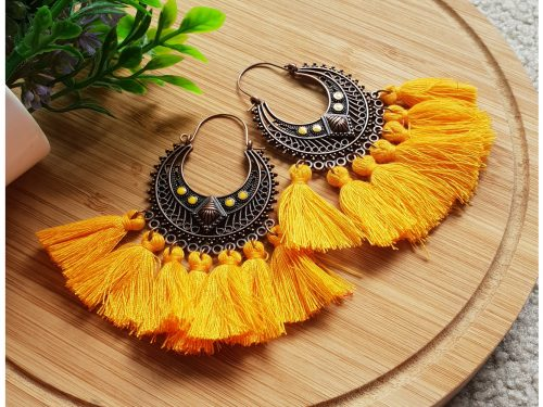 Handcrafted Tassel Earrings Vintage Boho Style