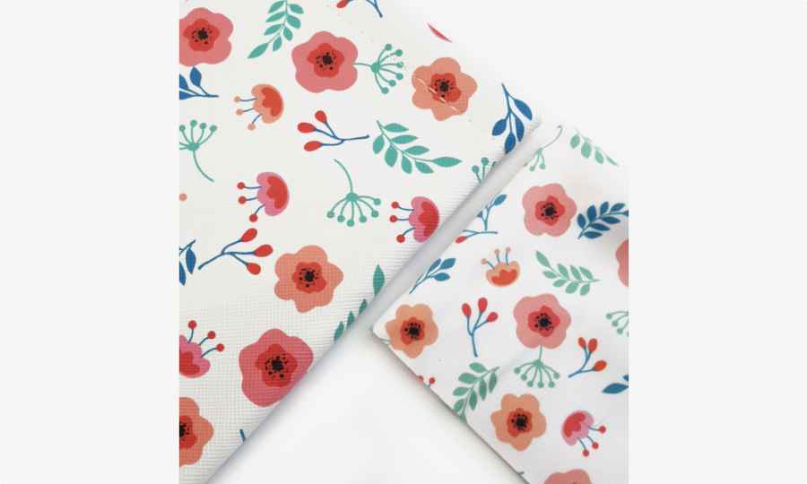 red flowers soft glasses case