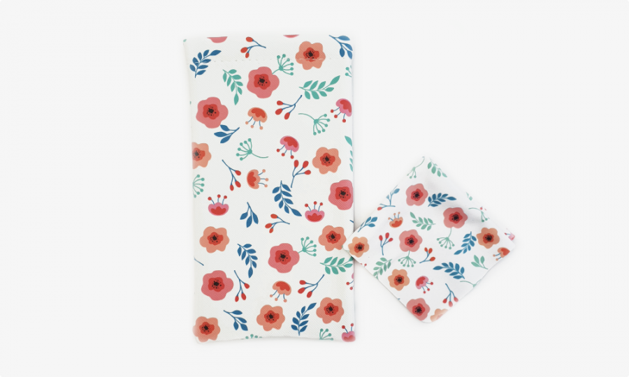 little flower soft glasses case