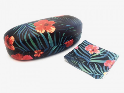 tropical affairs floral sunglasses case hard 1