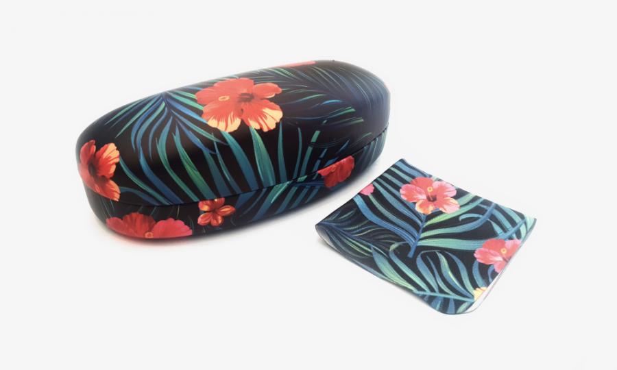 tropical affairs floral sunglasses case hard 1