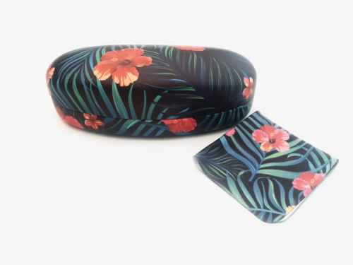 tropical affairs floral sunglasses case hard 2