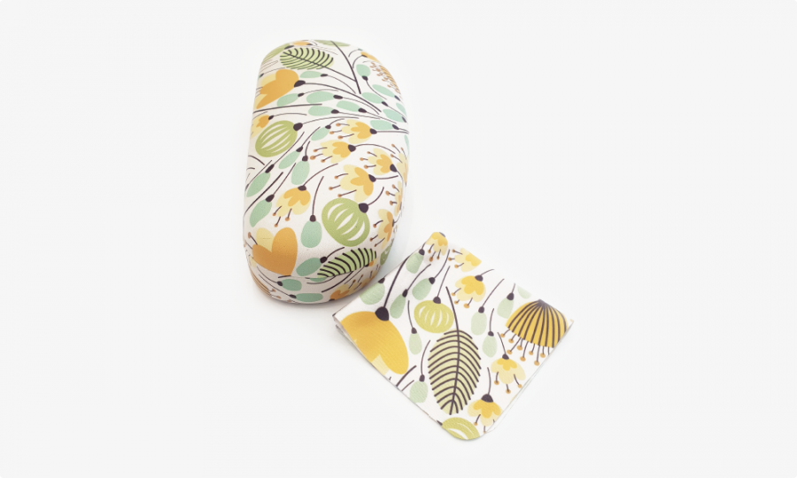 yellow blossom floral sunglasses case hard 4