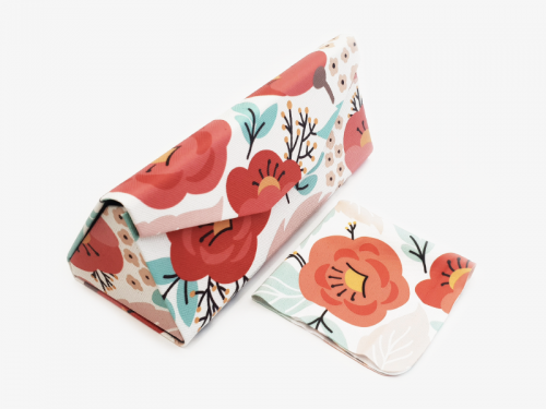 springtime floral glasses case foldable 1