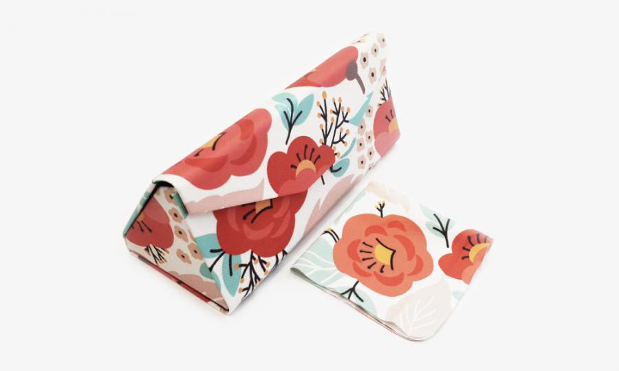 springtime floral glasses case foldable 1