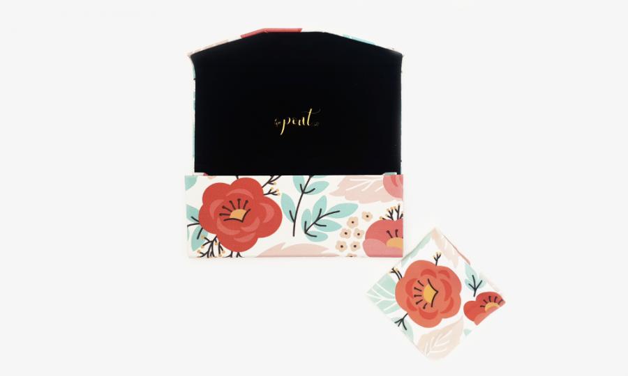 springtime floral glasses case foldable 3