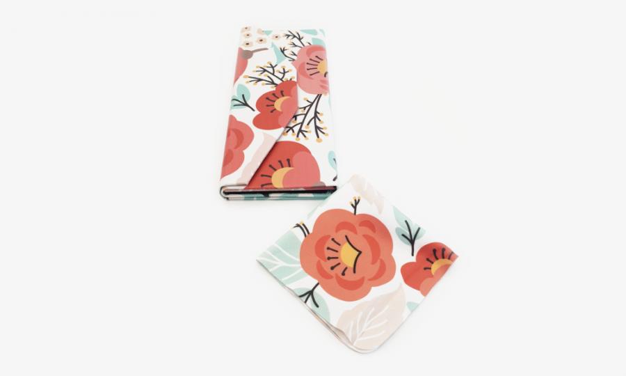 springtime floral glasses case foldable 4