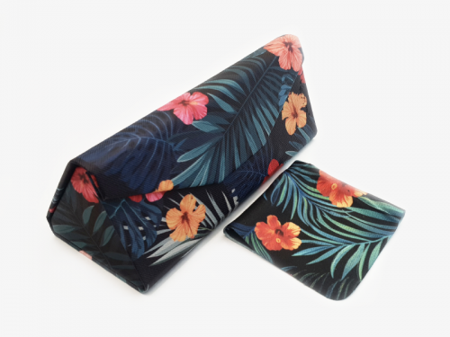 tropical affairs floral glasses case foldable 1
