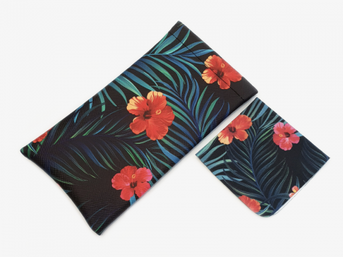 tropical affairs floral glasses case soft 1