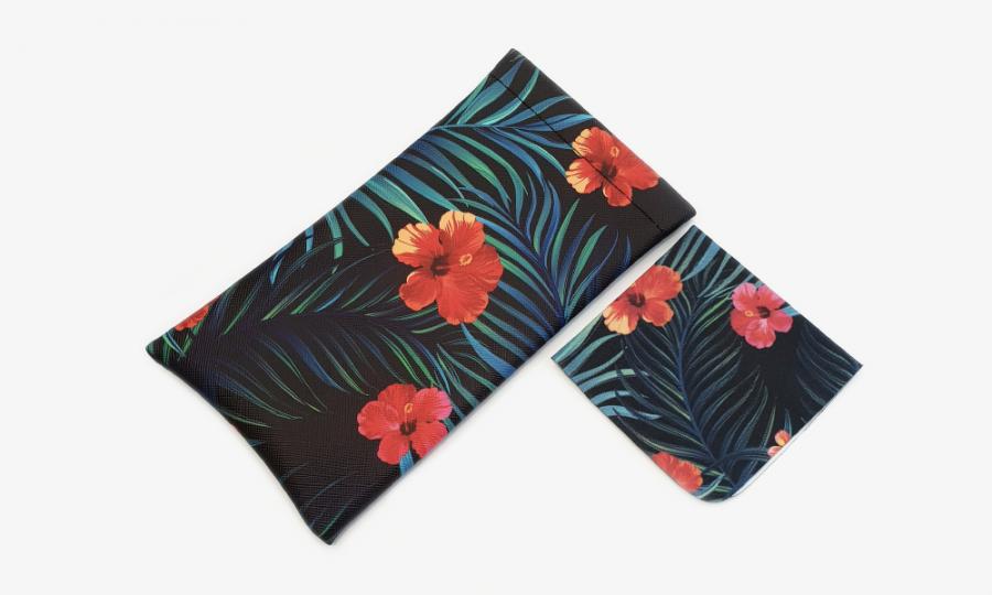 tropical affairs floral glasses case soft 1