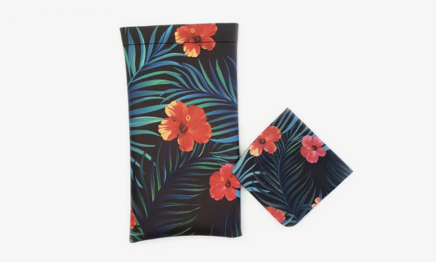 tropical affairs floral glasses case soft 3