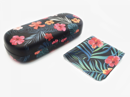 tropical affairs floral glasses case hard 1