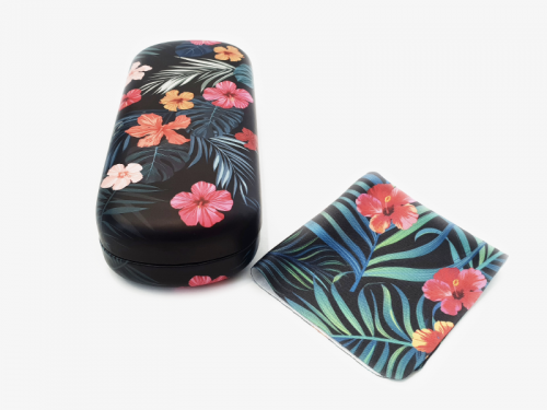 tropical affairs floral glasses case hard 4