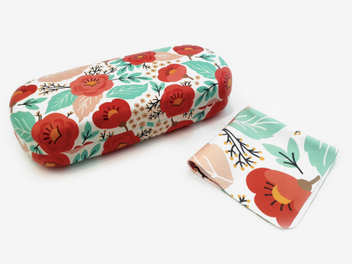 springtime floral glasses case hard 1