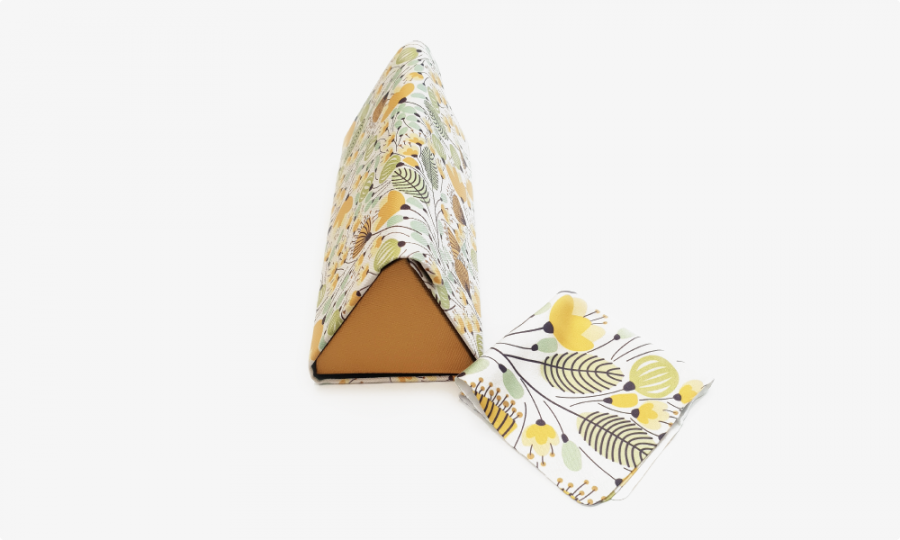 yellow blossoms floral glasses case foldable 2