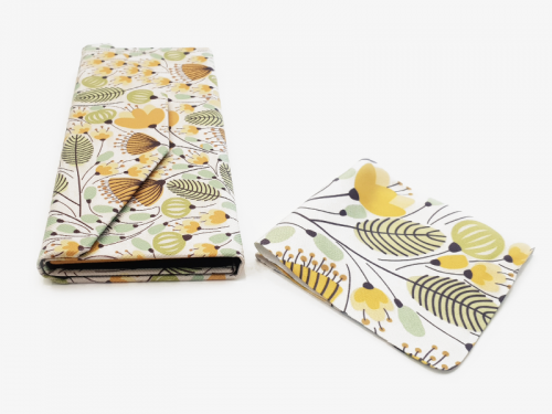 yellow blossoms floral glasses case foldable 4