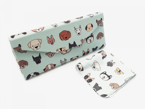 all dogs folding glasses case profile