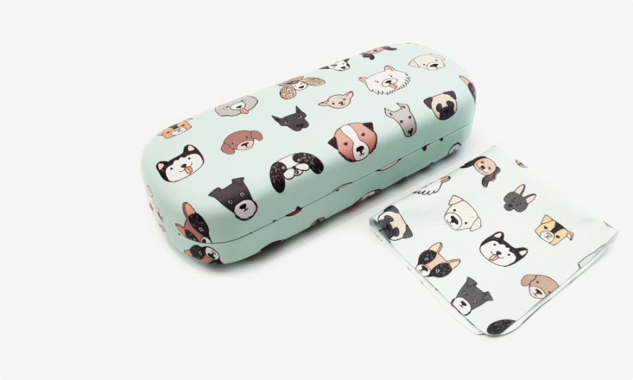 All Dogs Hard Glasses Case