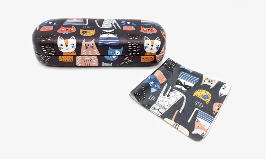Crazy Cats hard case front view