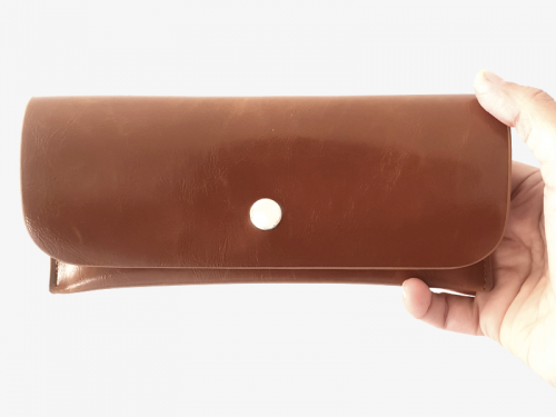 classy leather case front