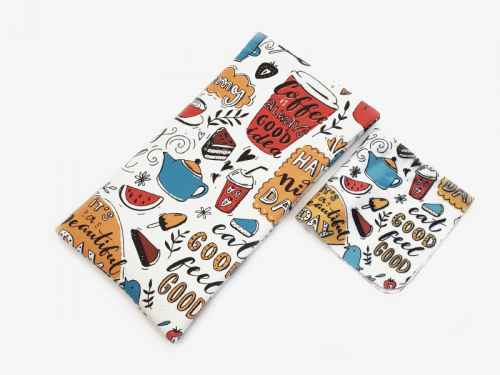 foodie print soft glasses pouch case profile