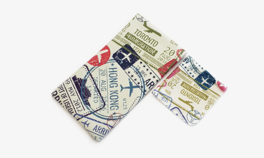 passport stamps soft glasses pouch case profile