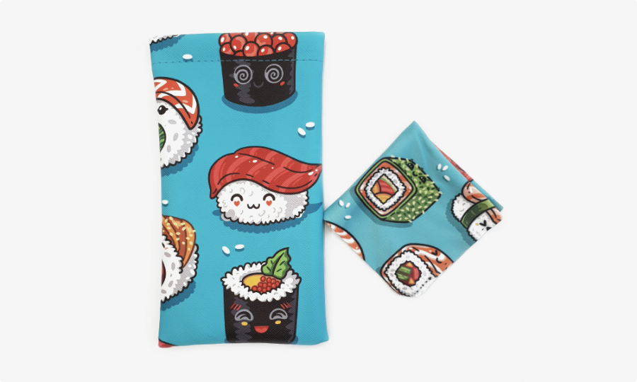 sushi rolls soft pouch case front