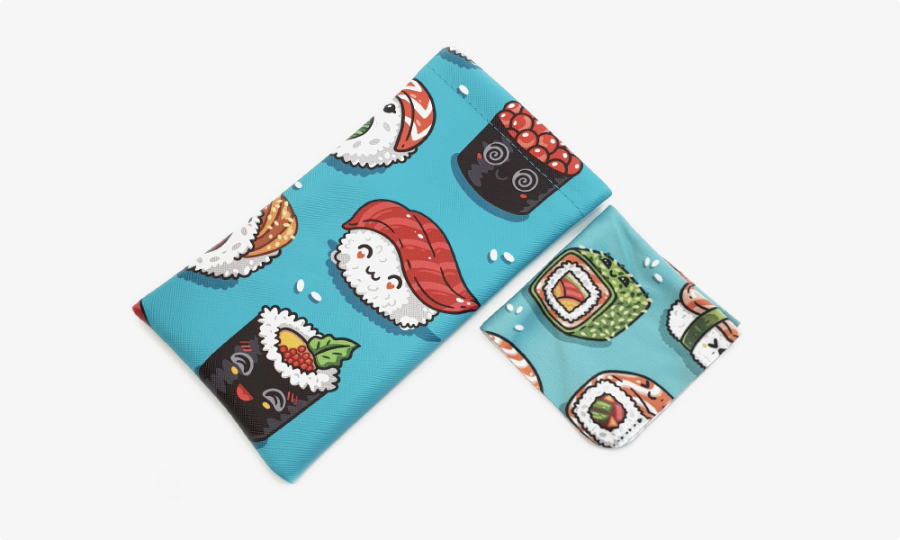 sushi rolls soft glasses pouch case profile