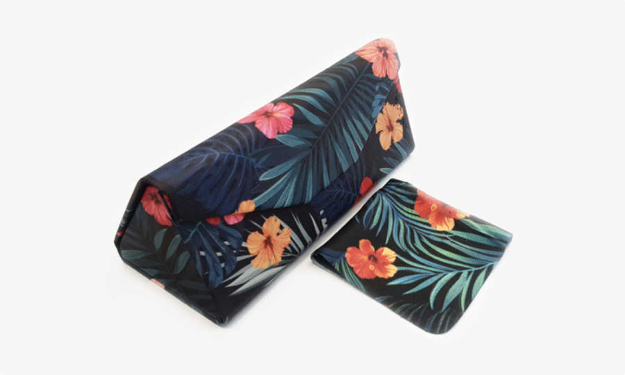 tropical affair folding glasses case