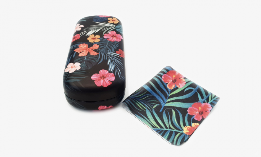 floral print glasses case