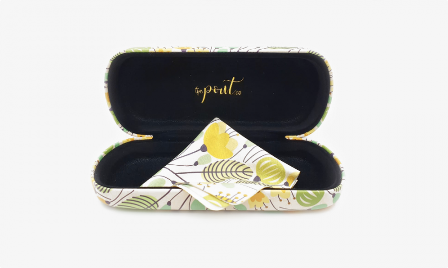 yellow flower glasses case